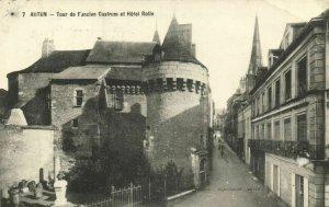 CPA AUTUN - Tour de l'ancien Castrum et Hotel Rolin (121877)