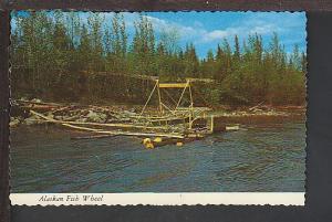 Alaskan Fish Wheel Alaska Postcard BIN