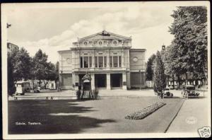 sweden, GÄVLE GAVLE, Teatern Theatre (1950s) RPPC