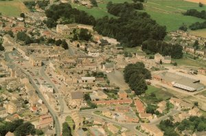 Leyburn Yorkshire From The Air Rare Aerial Postcard