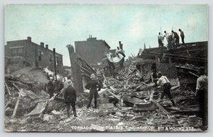 Cincinnati Ohio~6th Street After Wind Storm~Men Carry Casket~Police~July 7 1915