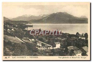 CARTE Postale Old Lake Annecy Veyrier View generle and Bauges