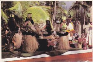 Tahitian Dancers At The Pageant Of Canoes, Polynesian Cultural Center, Laie O...