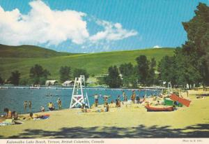 Beach View, Life Guard Tower, Kalamalka Lake Beach, Vernon, British Columbia,...