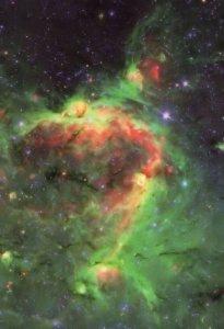 Hierarchal Bubble Structure Space Holes Dust Explosion Postcard