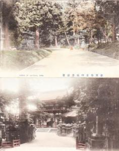 Avenue Of Lanterns Nara 2x Rare Japanese Postcard Mint
