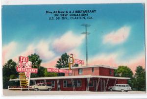 C & J Restaurant, Claxton GA