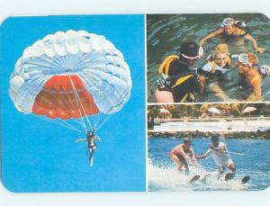 Unused Pre-1980 SKYDIVING PARACHUTE & OTHER ACTIVITES Acapulco Mexico F6011