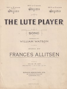 The Lute Player Frances Allitsen William Watson Song Classical Sheet Music