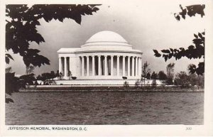 Washington DC Jefferson Memorial Real Photo RPPC