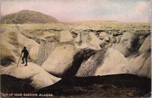 Top of Muir Glacier Alaska AK c1906 Postcard E31