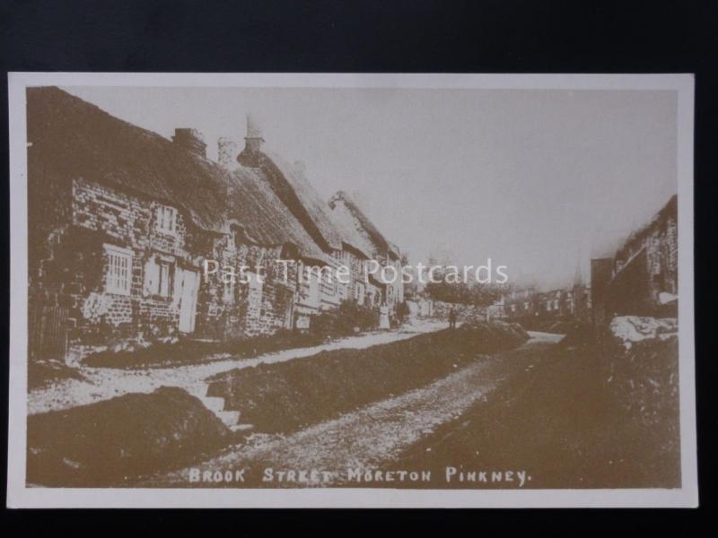 Northamptonshire: Moreton Pinkney (Scene 7) BROOK STREET Reproduction Postcard