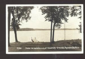 RPPC PAYNESVILLE MINNESOTA LAKE DORONIS ASSEMBLY GROUNDS REAL PHOTO POSTCARD