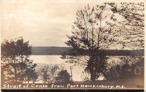 Port Hawkesbury Nova Scotia Canada Strait of Canso Real Photo Postcard AA16398