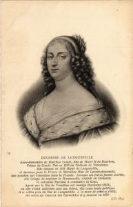CPA Duchesse de Longueville Royalty Nobelty (314630)