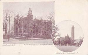 State Normal School, The Circle, First Presbyterian Church, Buffalo Morning E...
