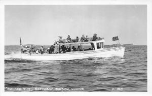 F21/ Boothbay Harbor Maine RPPC Postcard c1950s Richard T II Boat