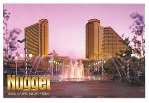 Nugget Casino Hotel John Ascuagas Resort Reno NV Ad Postcard