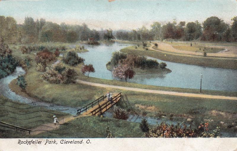 CLEVELAND, Ohio, PU-1906; Rockefeller Park, Walking Bridge