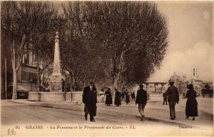 CPA Grasse La Fontaine et la Promenade du Cours (617375)