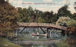 Pennsylvania Altoona Island Bridge In Lakemont Park
