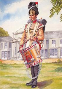 Military Art Postcard Drummer 3rd East Kent Regiment of Foot The Buffs 1814 32-5