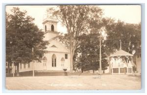 Postcard Church, Hartland, Maine ME RPPC H10