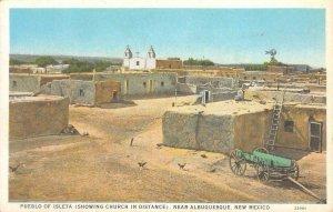 PUEBLO OF ISLETA Near Albuquerque, NM Native Americana c1920s Vintage Postcard