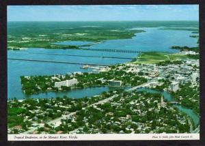 FL Aerial BRADENTON FLORIDA on Manatee River Postcard