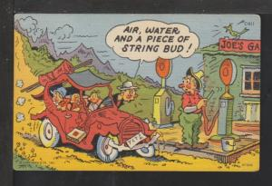 Air,Water,And a Piece of String,Car,Comic Postcard