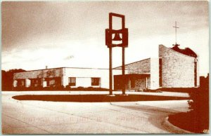 Lake Park, Iowa Postcard FIRST PRESBYTERIAN CHURCH Building View 1997 Cancel