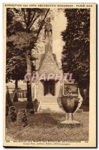 Old Postcard Exposition des Arts Decoratifs Modernes Paris 1925 Mausoleum to ...
