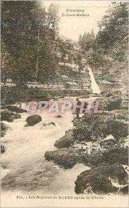 Old Postcard Frontiere Franco Suisse Les Rapides du Doubs apes Fall