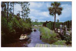 People in Small Boat, Okefenokee Swamp Park, Waycross, Georgia