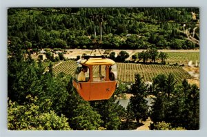 Napa Valley, CA-California, Sterling Vineyards, Aerial Tramway, Chrome Postcard