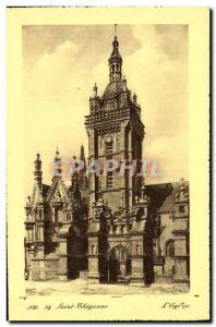 Postcard Old Saint Thegonnec The church