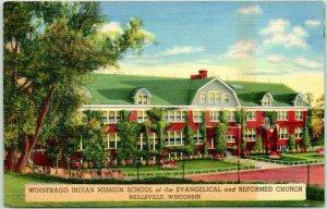 Neillsville, Wisconsin Postcard WINNEBAGO INDIAN MISSION SCHOOL *Back Damage