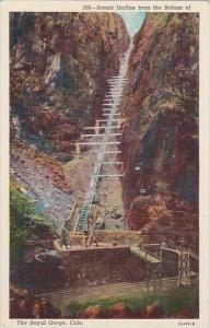 Colorado The Royal Gorge Scenic Incline From The Bottom Of The Royal Gorge