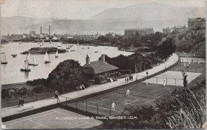 Ramsey Isle of Man Mooragh Lake & Park Tennis Courts Postcard E94