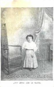 Lady Zena age 34, Smallest Person, Midget, Midgets, Dwarf,  Circus Postcard P...