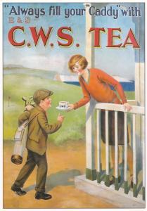 postcard Golf Series (A) Advertising C.W.S. Tea ROGS 4