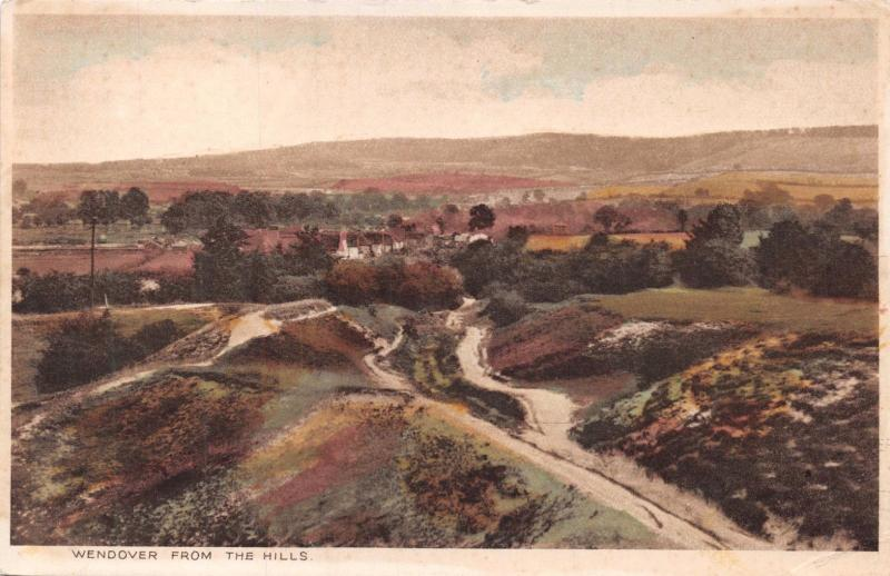 WENDOVER BUCKINGHAMSHIRE UK FROM THE HILLS  POSTCARD