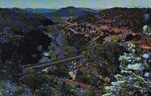 Arizona Oak Creek Canyon Midgley Bridge On Highway 89A Through