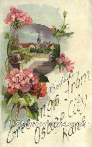Osage City, Kansas, KS Osage City KS Writing On Back