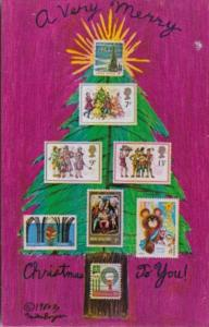 Merry Christmas With Various Christmas Stamps 1980