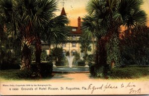 Florida St Augustine Hotel Alcazar Grounds 1907 Rotograph