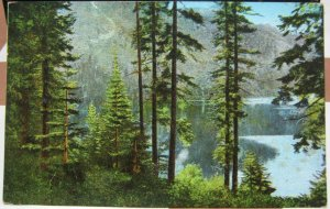 United States Mt Tallac from end Fallen Leaf Lake Tahoe - unposted