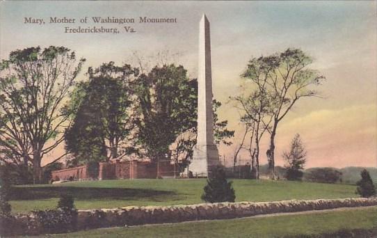 Mary Mother Of Washington Monument Fredericksburg Virginia Handcolored Albertype