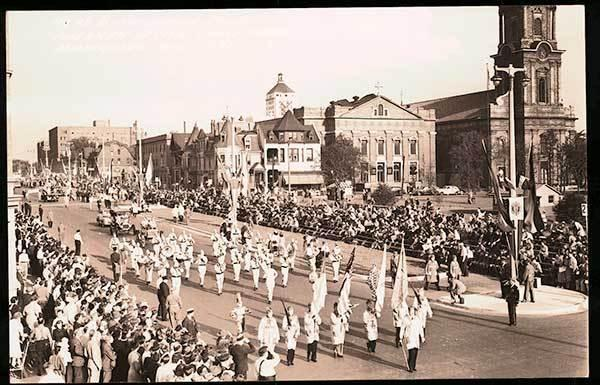 Milwaukee WI American Legion Parade Street Marching RPPC Real Photo Postcard