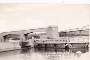 Iowa Dubuque Mississippi River Locks Real Photo